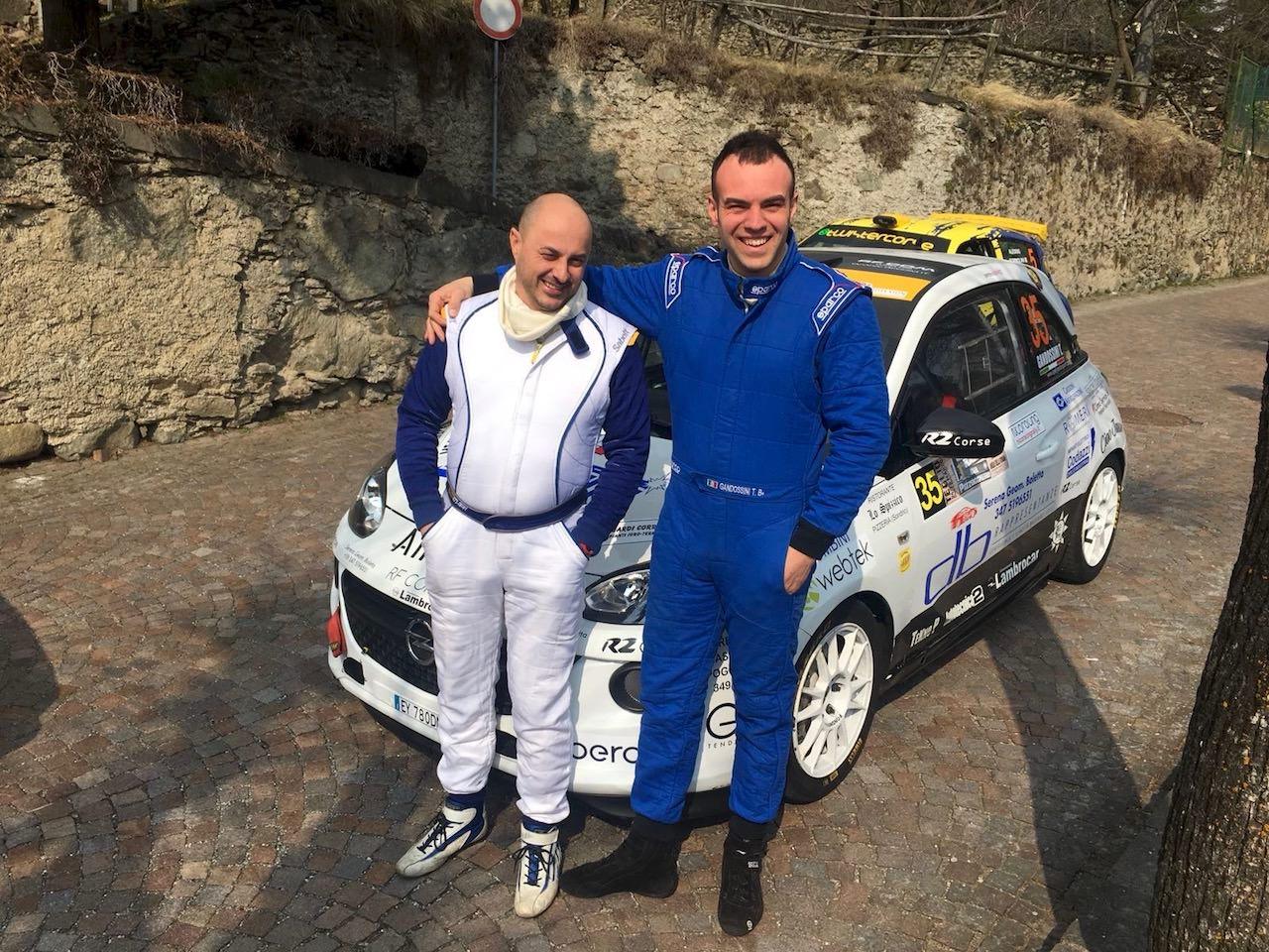 Gandossini Tiziano e Mostacchi Nico conquistano la 1ª posizione di classe e il 9° posto assoluto al 1° Rally del Pizzocchero