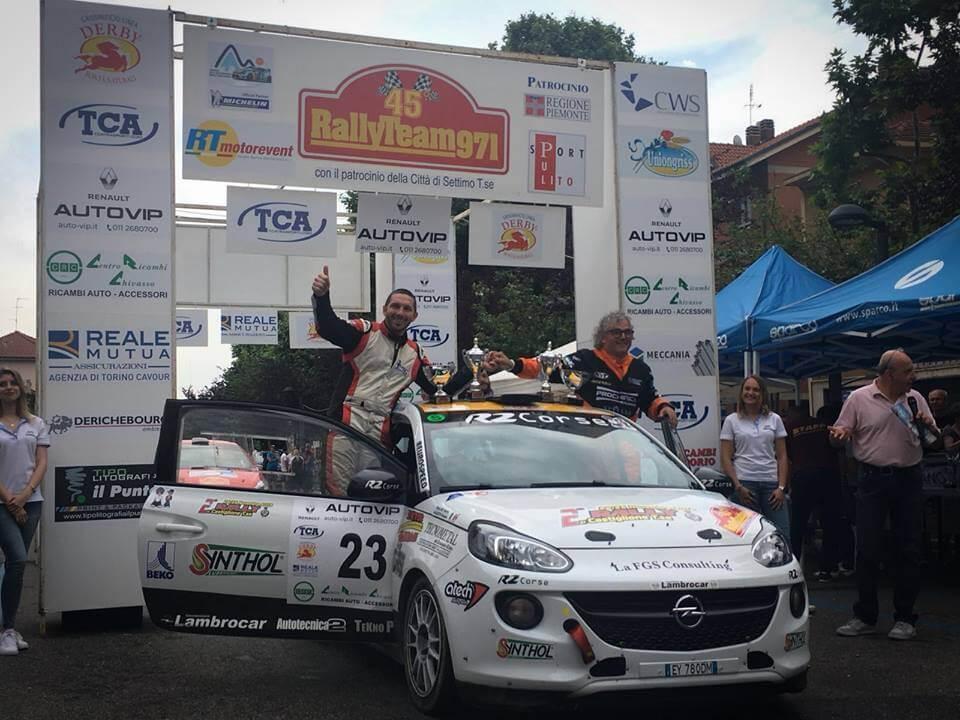 Prestazione eccellente per il team R2 Corse al 45° Rally Team 971